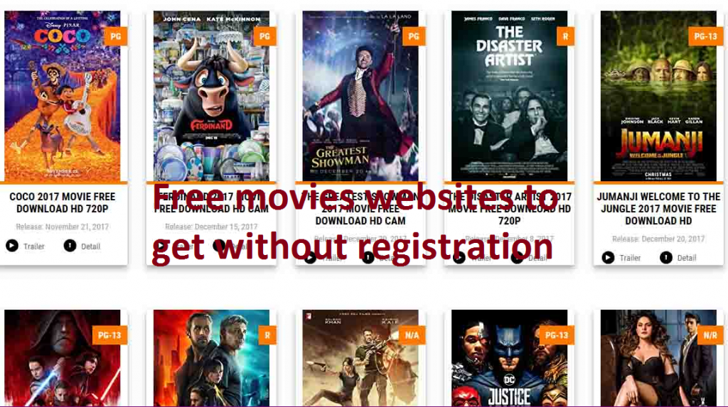free movies websites to get without registration