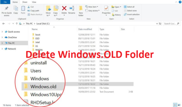 delete windows.old folder