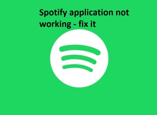 Spotify not working issue