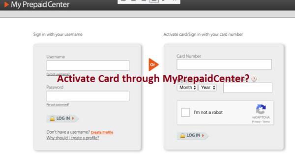 Activate through MyPrepaidCenter?